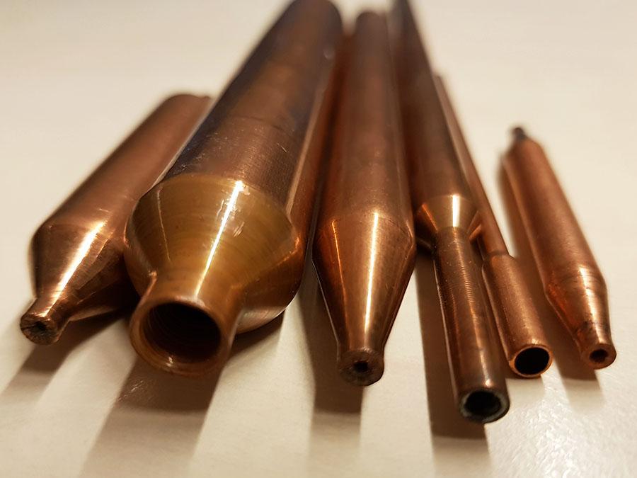 lavorazioni su tubi rastremature
